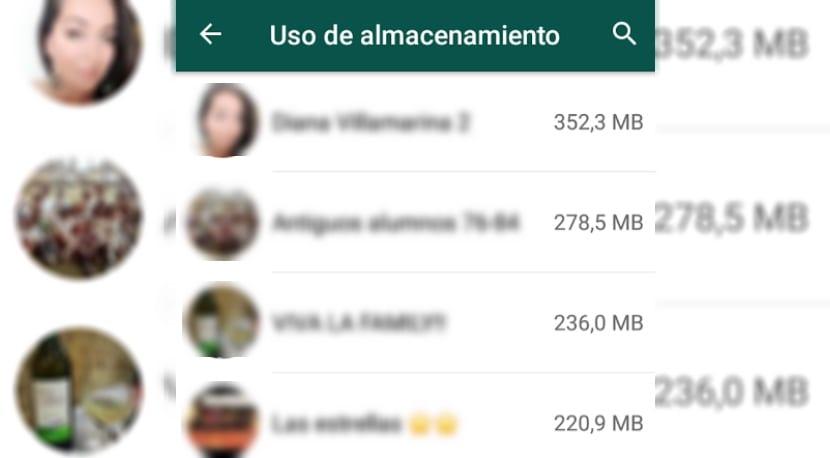 Ahorrar espacio en WhatsApp