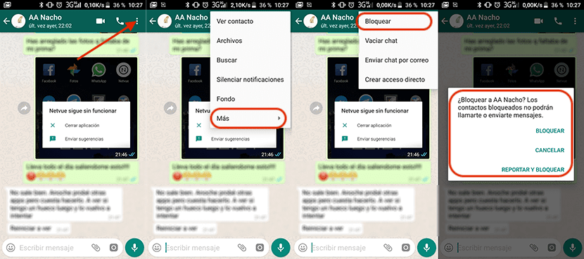 Cómo bloquear un contacto de WhatsApp en Android