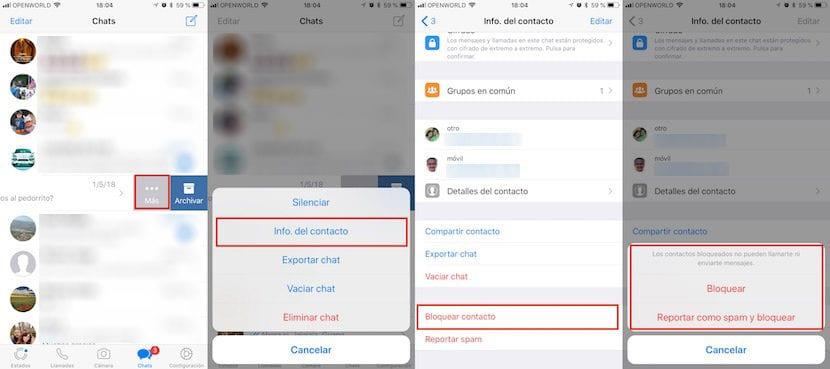 Cómo bloquear un contacto de WhatsApp en iPhone