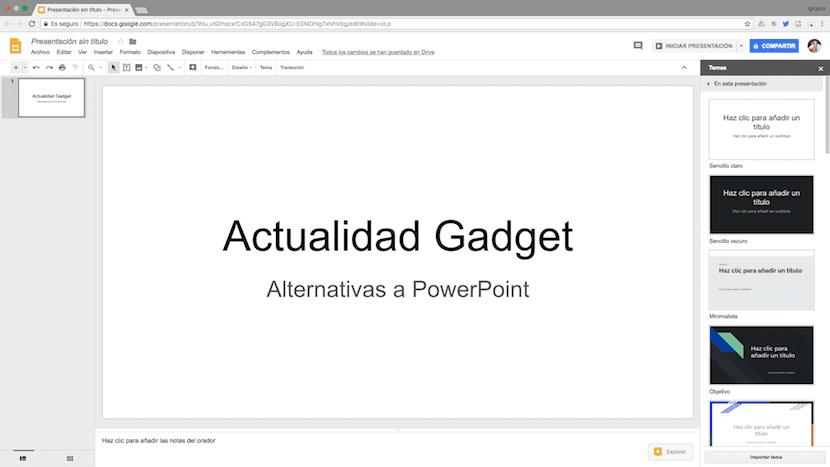 Google Slices - la alternativa de Google a PowerPoint