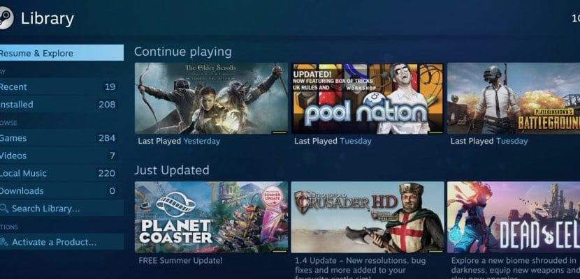Steam librería juegos