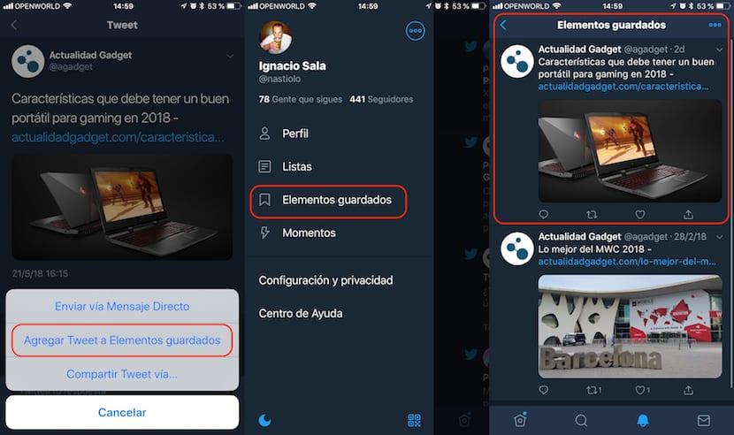 Twitter - Alternativa a Instapaper