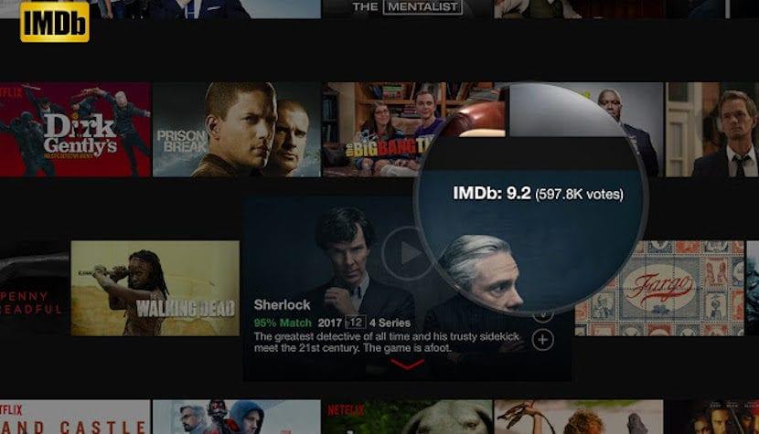 Puntuaciones de IMDB en Netflix