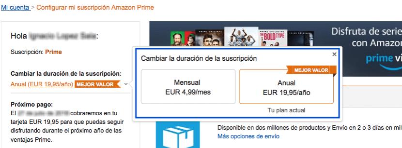 PRECIO PRIME AMAZON
