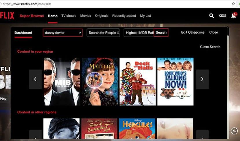 Navega por las cateogrías ocultas de Netflix