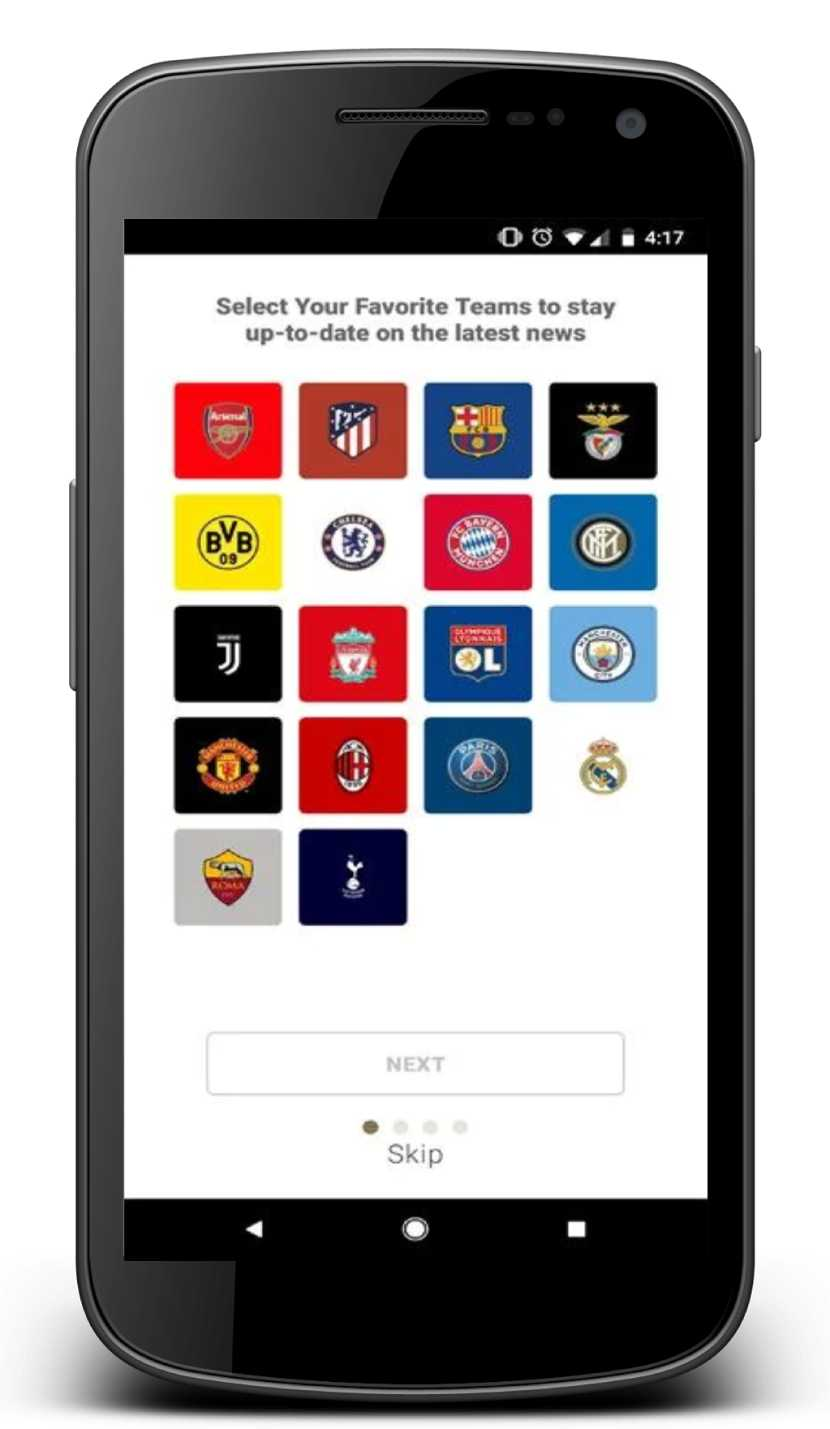 Aplicación de Android para International Champions Cup