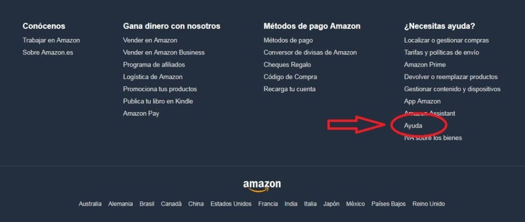 Primer paso cancelar cuenta Amazon