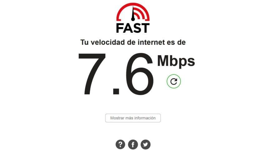 Resultado test velocidad FAST PC