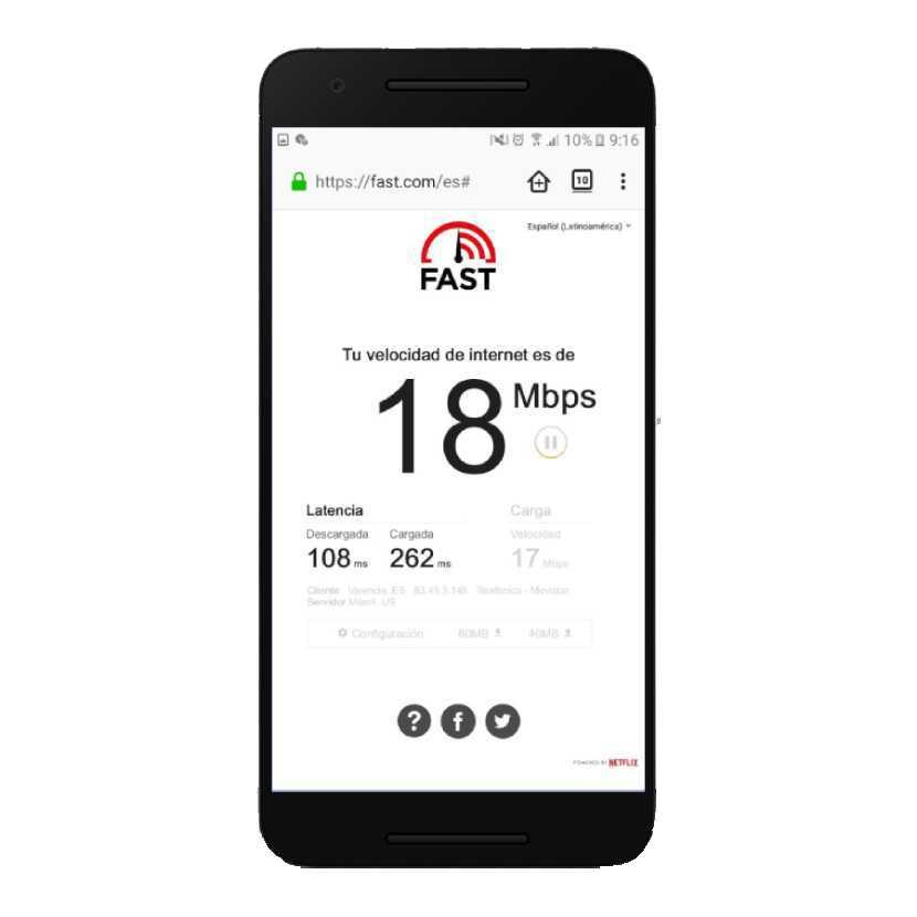 Interfaz móvil de FAST
