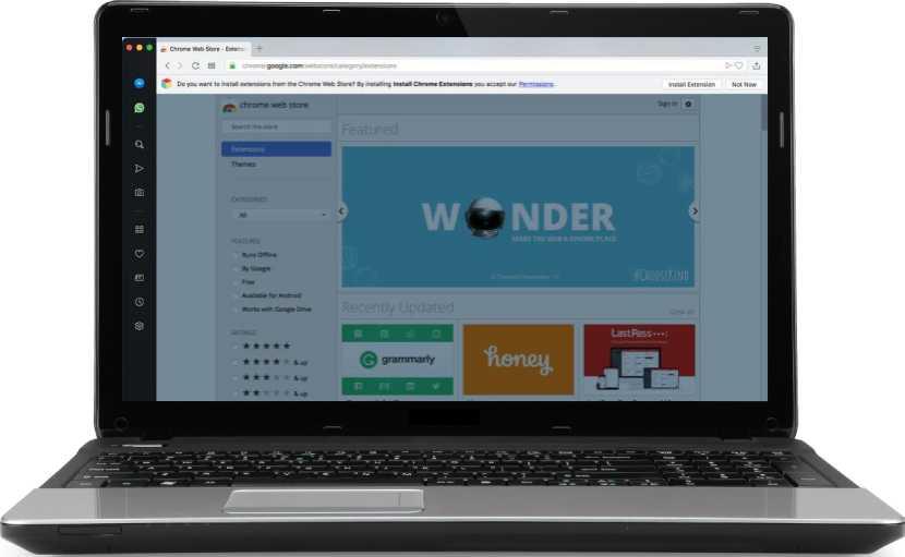 Chrome Web Store en Opera