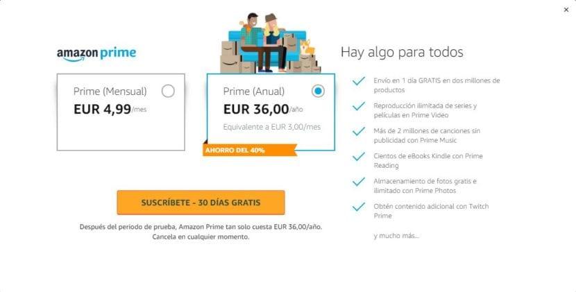 Suscripción Amazon Prime