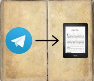 Enviar eBooks de telegram a kindle