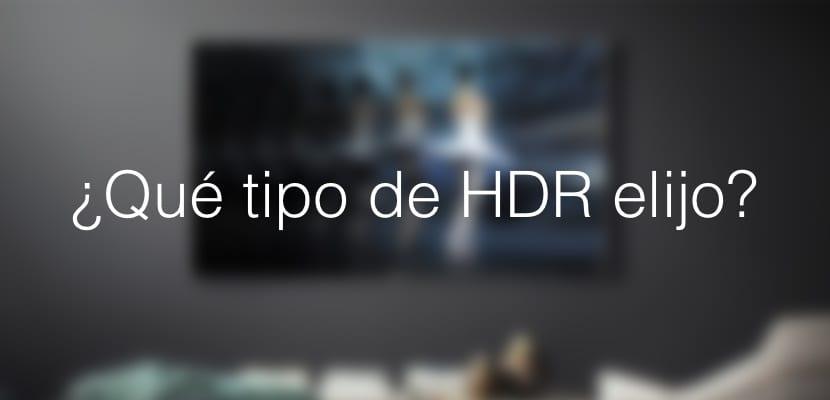 Los tipos de HDR en las TVs