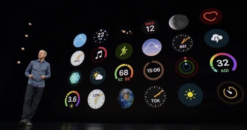 Apple Watch Series 4 interfaz