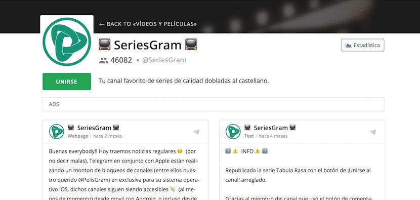 canales de telegram para ver peliculas y series