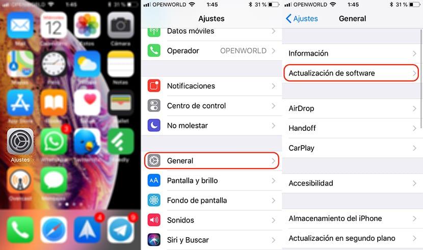 Cómo instalar iOS 12
