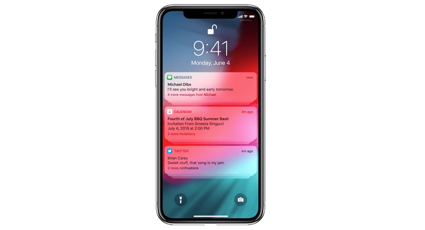Notificaciones agrupadas en iOS 12
