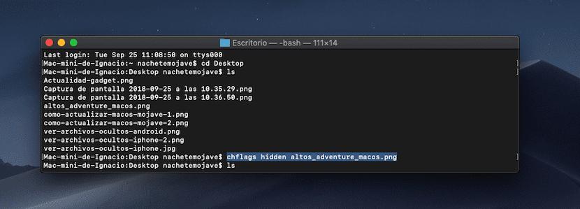 Ocultar archivos en Mac
