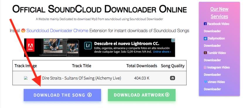 Descargar canciones con Soundcloud en Kickaud