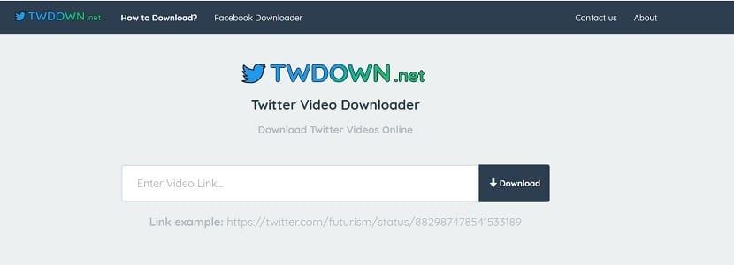 TWdown descarga vídeo Twitter