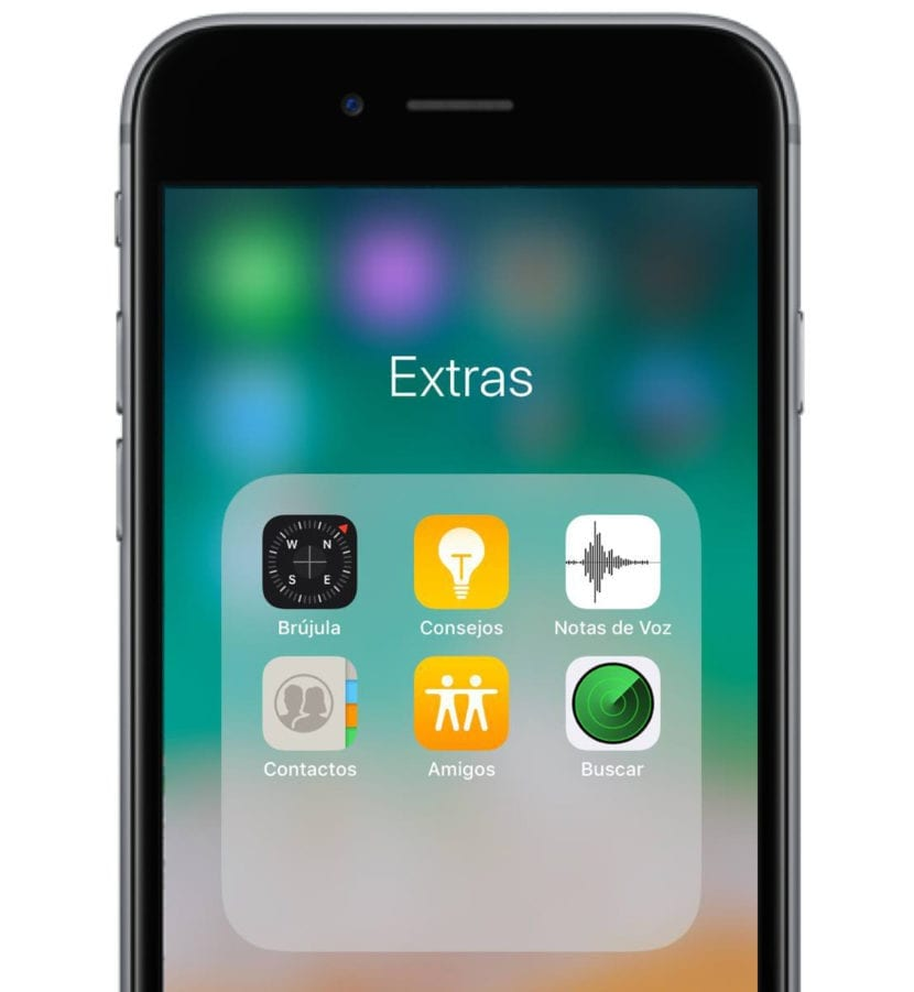 Carpeta extras en iPhone