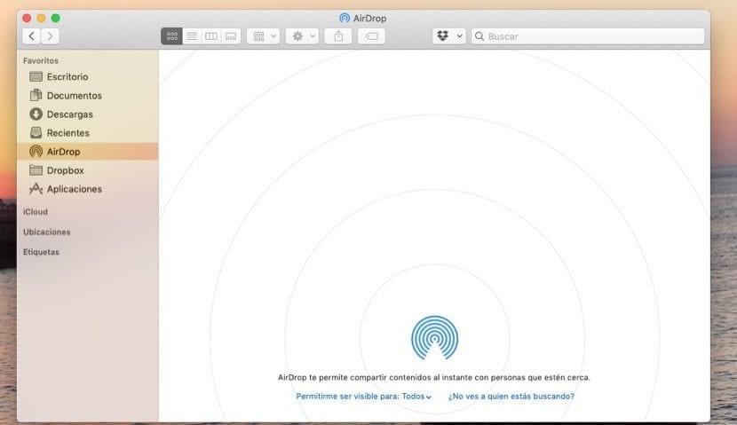 AirDrop en macOS