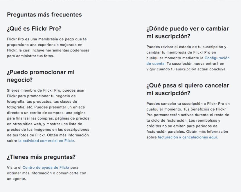 información Flickr Pro