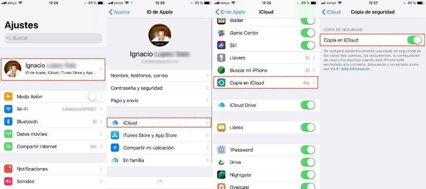 Hacer copias de seguridad en iOS desde el iPhone