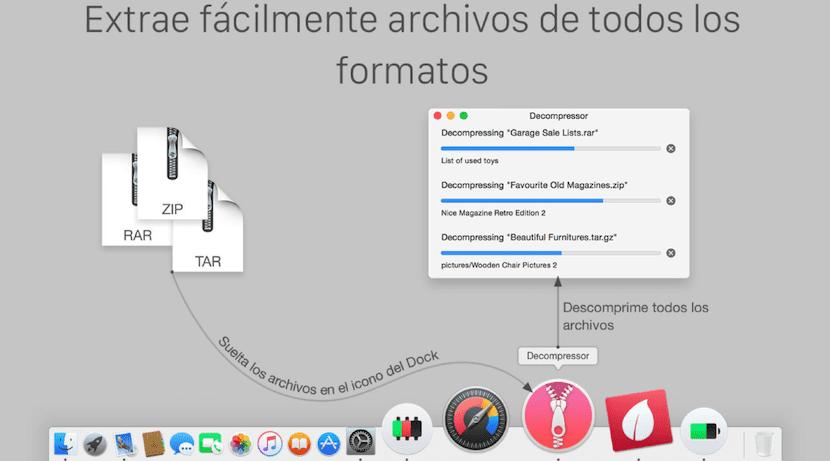 Descomprime archivos RAR en Mac con Decompressor
