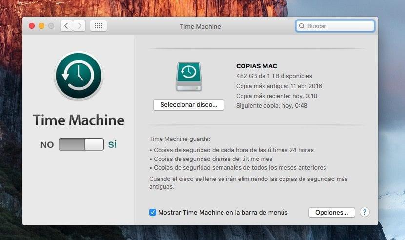 Hacer copias de seguridad en Mac