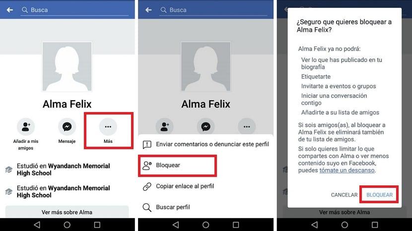 Bloquear usuarios en la app de Facebook