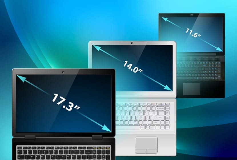 Tamaño pantalla portatil