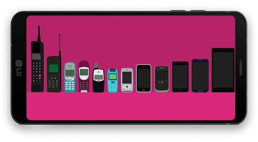 Evolución de los móviles