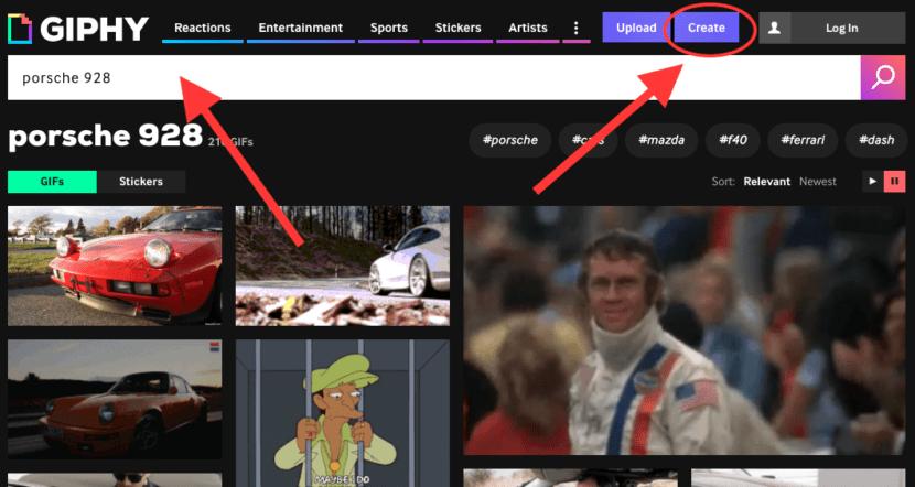 crear GIF con giphy