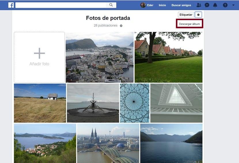 Descargar album Facebook