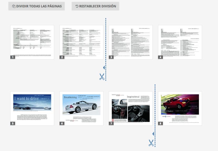 separación PDF