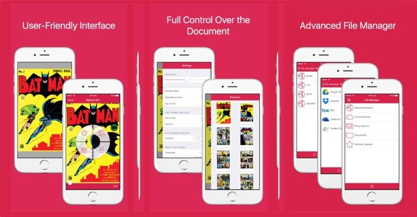 Comics Book Reader - Abrir archivos CBR en el iPhone