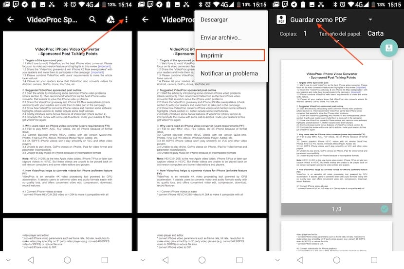 Crear documento en PDF en Android