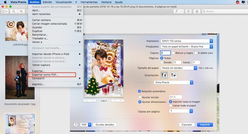 Crear documentos PDF en Mac