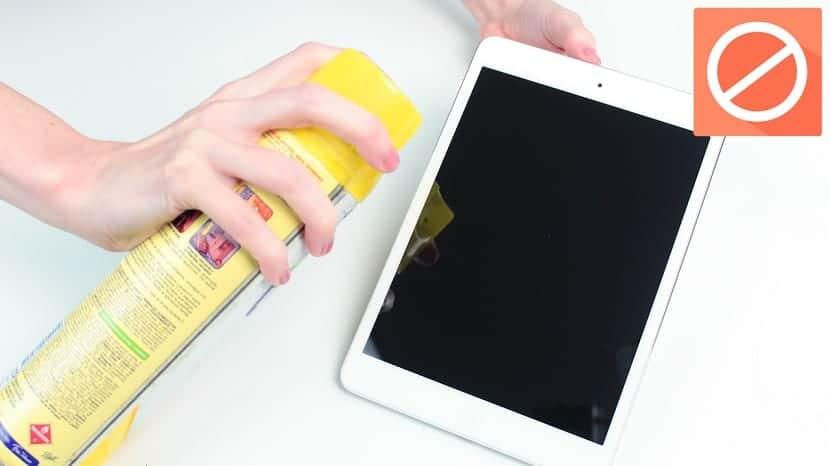 Limpiar tablet: qué no hacer