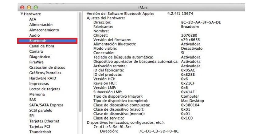 Saber si Mac tiene Bluetooth