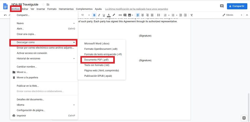 Editar PDF Google Docs