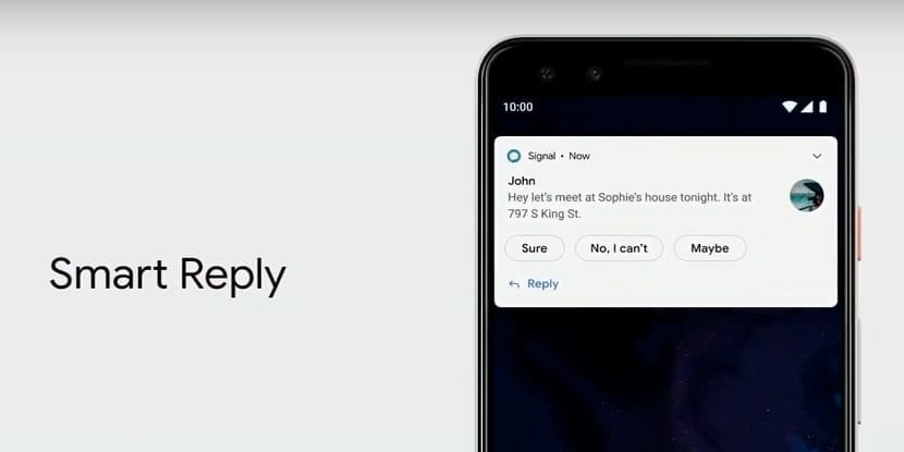 Android Q - Respuestas inteligentes