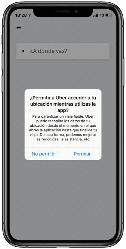 Notificaciones Uber