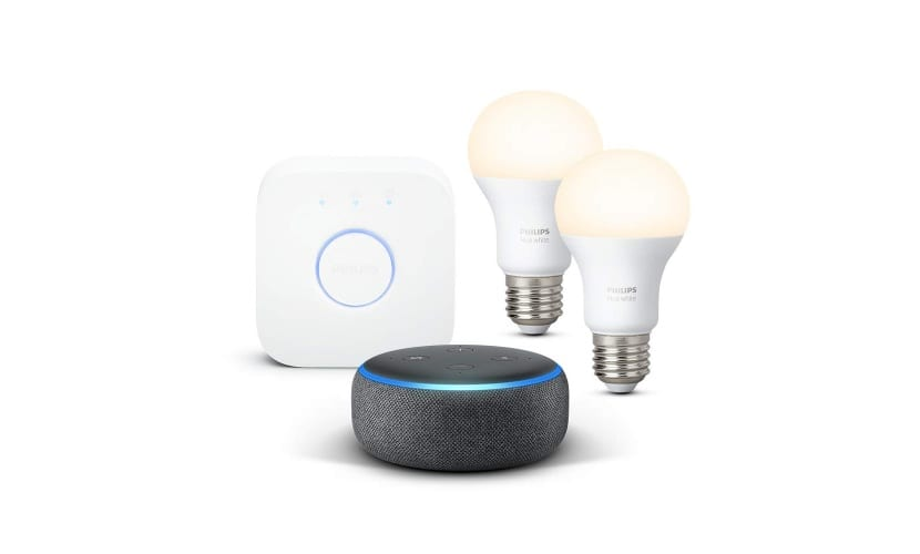 Echo Dot + 2 bombillas Philips Hue