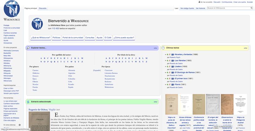 Wikisource -leer libros gratis online