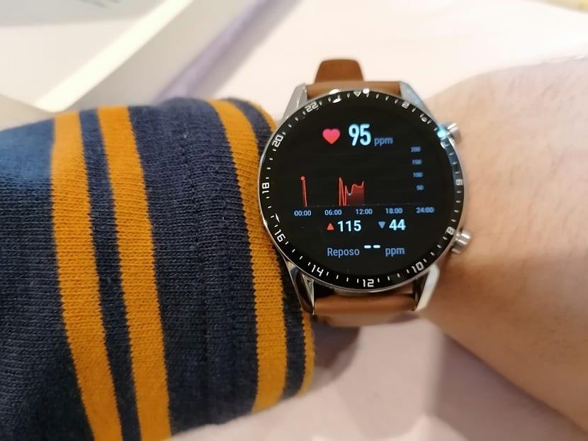 Huawei Watch GT 2 frecuencia cardiaca