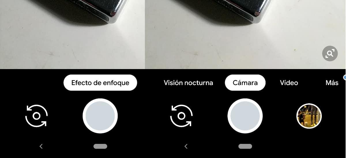 Funciones cámara de Google