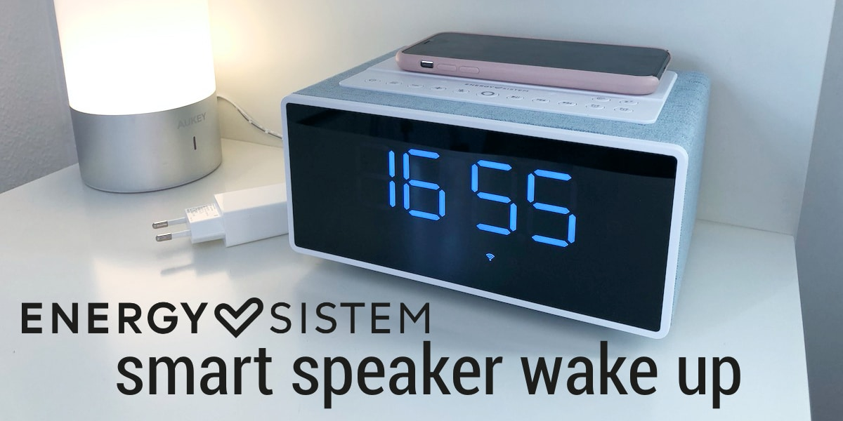 Smart Speaker Wake Up: Reloj despertador, altavoz con Alexa y cargador Qi