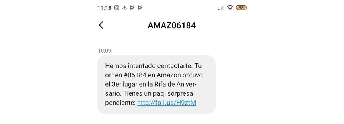 Estafa Amazon